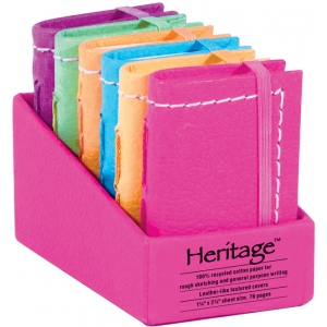 "Heritage Arts™ 2"" x 3"" Notebook Display; Binding: Sewn Bound; Color: Assorted; Format: Book; Size: 2"" x 3""; Type: Notebook; (model HM23), price per each"
