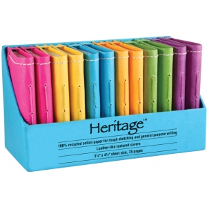 """Heritage Arts™ 3"""" x 5"""" Notebook Display: Sewn Bound, Assorted, Book, 3"""" x 5"""", Notebook, (model HM35), price per each"""