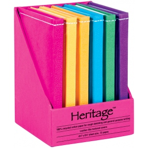 "Heritage Arts™ 5"" x 7"" Notebook Display: Sewn Bound, Assorted, Book, 5"" x 7"", Notebook, (model HM57), price per each"