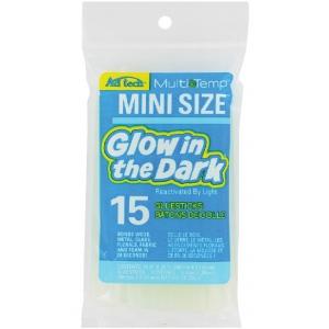"""Ad Tech™ Glow In The Dark Mini Glue Sticks; Quantity: 15-Pack; Size: 4""""; Type: Glue Stick; (model AT221-3415), price per 15-Pack"""