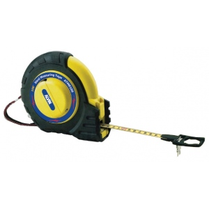 Alvin® 100' Speedy Rewind Tape Measure: Black/Gray, Yellow, 100', Tape Measure, (model ATM0100), price per each
