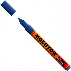 MOLOTOW™ 2mm Fine Tip Acrylic Pump Marker True Blue: Blue, Paint, Refillable, 2mm, Paint Marker, (model M127206), price per each