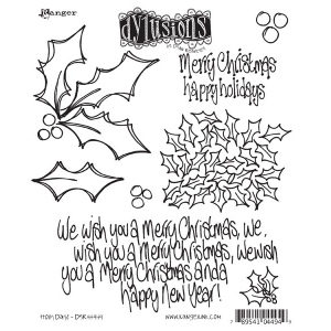 Ranger - Dyan Reavely - Dylusions - Holly Days Cling Stamps