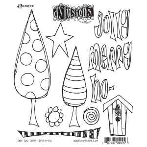 Ranger - Dyan Reavely - Dylusions - One Two Tree Cling Stamps