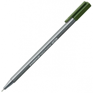 Staedtler® Triplus® Green Earth Fineliner Pen ; Color: Green; Tip Size: .3mm; Tip Type: Fine Nib; Type: Technical; (model 334-55), price per each