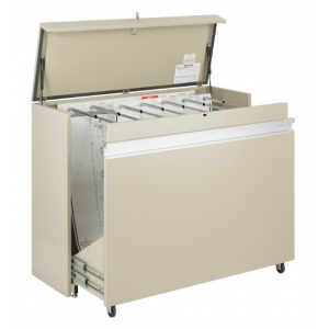 "Safco® MasterFile Storage Cabinet 48"" x 36""; Capacity: 1600 Sheets; Color: White/Ivory; Material: Steel; Size: 21 1/2""d x 56""w x 45""h; (model 5025), price per each"