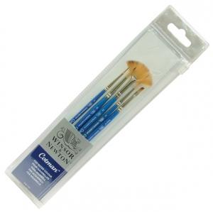 Winsor & Newton™ Cotman™ Synthetic Watercolor 5-Piece Brush Set: Short Handle, Synthetic, Watercolor, (model 5390602), price per set