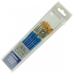 Winsor & Newton™ Cotman™ Synthetic Watercolor 7-Piece Brush Set: Short Handle, Synthetic, Watercolor, (model 5390605), price per set