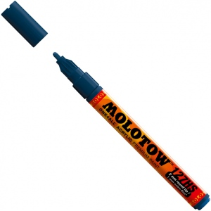MOLOTOW™ 2mm Fine Tip Acrylic Pump Marker Petrol; Color: Blue; Ink Type: Paint; Refillable: Yes; Tip Size: 2mm; Type: Paint Marker; (model M127219), price per each