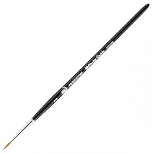 Princeton™ Kolinsky Sable Round 2 Brush: Short Handle, Kolinsky, Round, 2, Watercolor, (model 7050R-2), price per each
