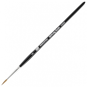 Princeton™ Kolinsky Sable Round 3 Brush: Short Handle, Kolinsky, Round, 3, Watercolor, (model 7050R-3), price per each