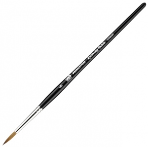 Princeton™ Kolinsky Sable Round 6 Brush: Short Handle, Kolinsky, Round, 6, Watercolor, (model 7050R-6), price per each