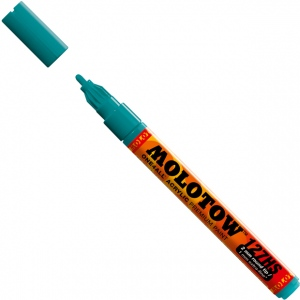 MOLOTOW™ 2mm Fine Tip Acrylic Pump Marker Lagoon Blue; Color: Blue; Ink Type: Paint; Refillable: Yes; Tip Size: 2mm; Type: Paint Marker; (model M127221), price per each