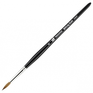 Princeton™ Kolinsky Sable Round 8 Brush: Short Handle, Kolinsky, Round, 8, Watercolor, (model 7050R-8), price per each