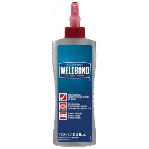 Weldbond® Universal Adhesive 14.2oz Bottle; Format: Bottle; Size: 14.2 oz; Type: All Purpose; (model 8-50420), price per each