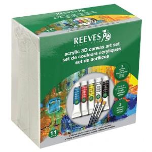Reeves™ Acrylic 3D Canvas Art Set: Acrylic, (model 8490001), price per set
