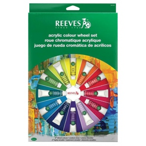 Reeves™ Acrylic Color Wheel Set: Acrylic, (model 8491460), price per set