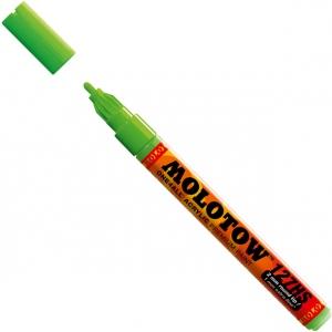 MOLOTOW™ 2mm Fine Tip Acrylic Pump Marker Neon Green Fluorescent: Green, Paint, Refillable, 2mm, Paint Marker, (model M127232), price per each
