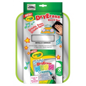 "Crayola® Dry-Erase Neon Color Board Set; Size: 8 1/2"" x 11""; Type: Dry Erase; (model 98-8625), price per set"