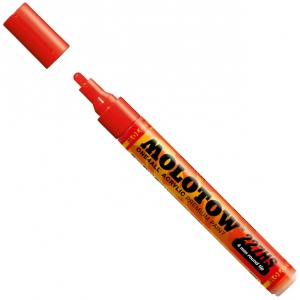 MOLOTOW™ 4mm Round Tip Acrylic Pump Marker Traffic Red; Color: Red/Pink; Ink Type: Paint; Refillable: Yes; Tip Size: 4mm; Type: Paint Marker; (model M227202), price per each