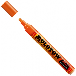MOLOTOW™ 4mm Round Tip Acrylic Pump Marker Dare Orange; Color: Orange; Ink Type: Paint; Refillable: Yes; Tip Size: 4mm; Type: Paint Marker; (model M227203), price per each