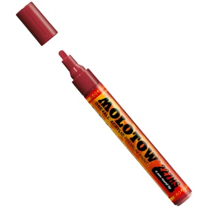 MOLOTOW™ 4mm Round Tip Acrylic Pump Marker Burgundy; Color: Red/Pink; Ink Type: Paint; Refillable: Yes; Tip Size: 4mm; Type: Paint Marker; (model M227204), price per each