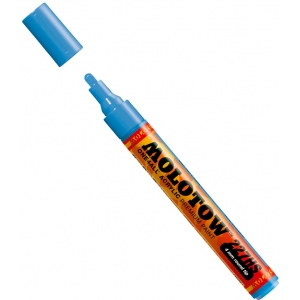 MOLOTOW™ 4mm Round Tip Acrylic Pump Marker Shock Blue Middle; Color: Blue; Ink Type: Paint; Refillable: Yes; Tip Size: 4mm; Type: Paint Marker; (model M227205), price per each