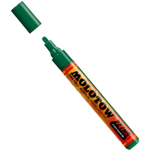 MOLOTOW™ 4mm Round Tip Acrylic Pump Marker Mr. Green; Color: Green; Ink Type: Paint; Refillable: Yes; Tip Size: 4mm; Type: Paint Marker; (model M227209), price per each