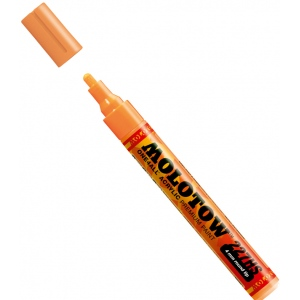 MOLOTOW™ 4mm Round Tip Acrylic Pump Marker Neon Orange Fluorescent; Color: Orange; Ink Type: Paint; Refillable: Yes; Tip Size: 4mm; Type: Paint Marker; (model M227230), price per each