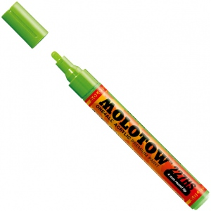 MOLOTOW™ 4mm Round Tip Acrylic Pump Marker Neon Green Fluorescent: Green, Paint, Refillable, 4mm, Paint Marker, (model M227232), price per each