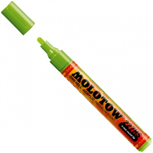 MOLOTOW™ 4mm Round Tip Acrylic Pump Marker Grasshopper; Color: Green; Ink Type: Paint; Refillable: Yes; Tip Size: 4mm; Type: Paint Marker; (model M227233), price per each