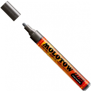 MOLOTOW™ 4mm Round Tip Acrylic Pump Marker Metallic Black; Color: Metallic; Ink Type: Paint; Refillable: Yes; Tip Size: 4mm; Type: Paint Marker; (model M227301), price per each