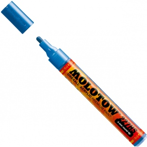 MOLOTOW™ 4mm Round Tip Acrylic Pump Marker Metallic Blue; Color: Metallic; Ink Type: Paint; Refillable: Yes; Tip Size: 4mm; Type: Paint Marker; (model M227302), price per each