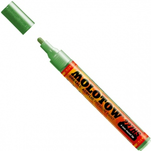 MOLOTOW™ 4mm Round Tip Acrylic Pump Marker Metallic Light Green: Metallic, Paint, Refillable, 4mm, Paint Marker, (model M227304), price per each