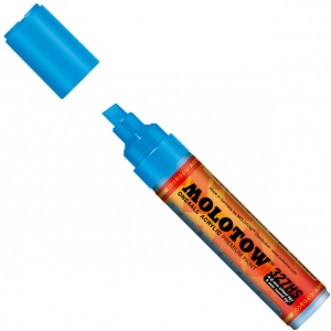 MOLOTOW™ 4-8mm Chisel Tip Acrylic Pump Marker Shock Blue Middle; Color: Blue; Ink Type: Paint; Refillable: Yes; Tip Size: 8mm; Type: Paint Marker; (model M327553), price per each