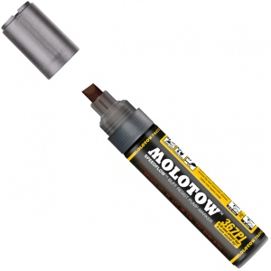 MOLOTOW™ 4-8mm Chisel Tip Pump Marker; Color: Black/Gray; Ink Type: Paint; Refillable: Yes; Tip Size: 8mm; Type: Paint Marker; (model M367000), price per each