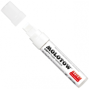 MOLOTOW™ 15mm Wide Tip Empty Marker; Ink Type: Paint; Refillable: Yes; Tip Size: 15mm; Type: Paint Marker; (model M611000), price per each