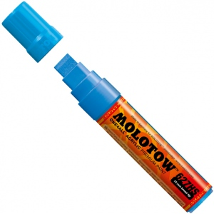 MOLOTOW™ 15mm Wide Tip Acrylic Pump Marker Shock Blue Middle: Blue, Paint, Refillable, 15mm, Paint Marker, (model M627205), price per each