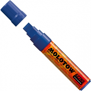 MOLOTOW™ 15mm Wide Tip Acrylic Pump Marker True Blue: Blue, Paint, Refillable, 15mm, Paint Marker, (model M627206), price per each