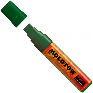 MOLOTOW™ 15mm Wide Tip Acrylic Pump Marker Mr. Green: Green, Paint, Refillable, 15mm, Paint Marker, (model M627209), price per each
