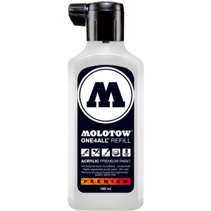 MOLOTOW™ 180ml Acrylic Marker Refill Signal White; Color: White/Ivory; Ink Type: Paint; Refill: Yes; Size: 180 ml; Type: Refill; (model M692160), price per each