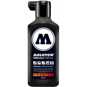 MOLOTOW™ 180ml Acrylic Marker Refill Signal Black; Color: Black/Gray; Ink Type: Paint; Refill: Yes; Size: 180 ml; Type: Refill; (model M692180), price per each