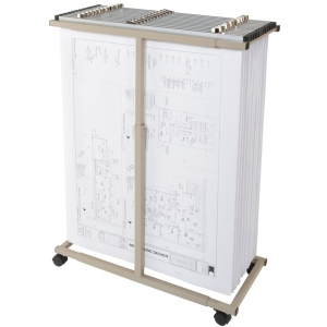 Brookside Design Mobile Blueprint and Document Center: White/Ivory, Steel, Filing System, (model MVPC), price per each
