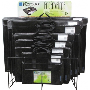 Itoya® Art Profolio® Art Envelope Display Assortment; Color: Black/Gray; (model NV7200D), price per each