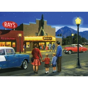 "Royal & Langnickel® Painting by Numbers™ 12 3/4 x 15 3/4 Adult Set Night At The Movies; Board Size: 12 3/4"" x 15 3/4""; (model PAL41), price per set"