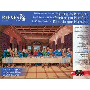 "Reeves™ Large Painting By Numbers The Last Supper: 12"" x 16"", 12"" x 16"", (model PBNACL12), price per each"