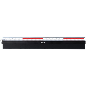 "Alvin® Safe-T-Cut 24"" Premium Cutting Straightedge: Metallic, Aluminum, 24"", Straightedge, (model PGS24), price per each"