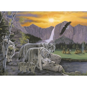 "Royal & Langnickel® Painting by Numbers™ 11 1/4 x 15 3/8 Junior Large Set Path Of The Wolf Spirit; Board Size: 11 1/4"" x 15 3/8""; (model PJL38), price per set"