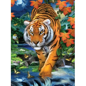 "Royal & Langnickel® Painting by Numbers™ 8 3/4 x 11 3/8 Junior Small Set On The Prowl; Board Size: 8 3/4"" x 11 3/8""; (model PJS84), price per set"