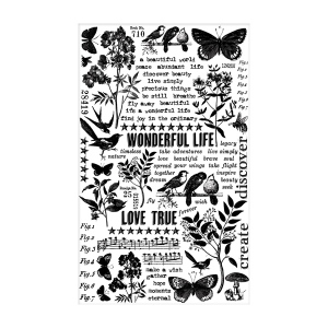 Advantus - Tim Holtz - Ideaology -Remnant Rubs - Botanical